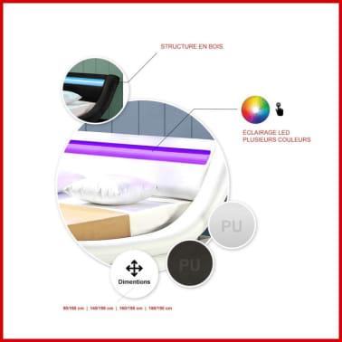 Lit led design Julio - Blanc - 180x200[4/4]
