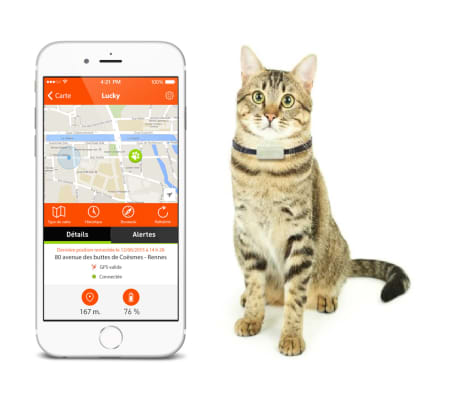 Weenect Traceur GPS pour chats Blanc 7811[7/9]