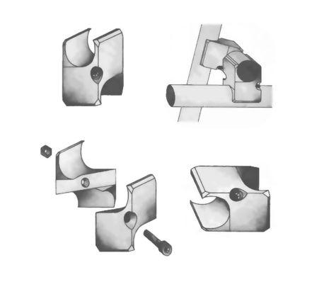 Raccord tubulaire Creatube aspect brut[3/7]