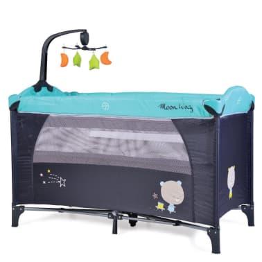 Lit parapluie bébé / Lit pliant à 2 niveaux Moon Way Bleu[1/1]
