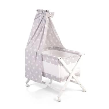 Berceau, lit bébé en barreaux avec baldaquin,set de linge et matelas C[1/1]