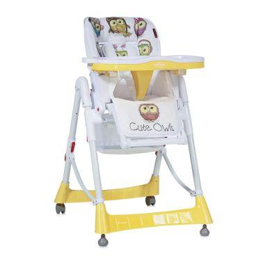 Chaise Haute Réglable Evolutive pour Bébé PRIMO Jaune[1/1]