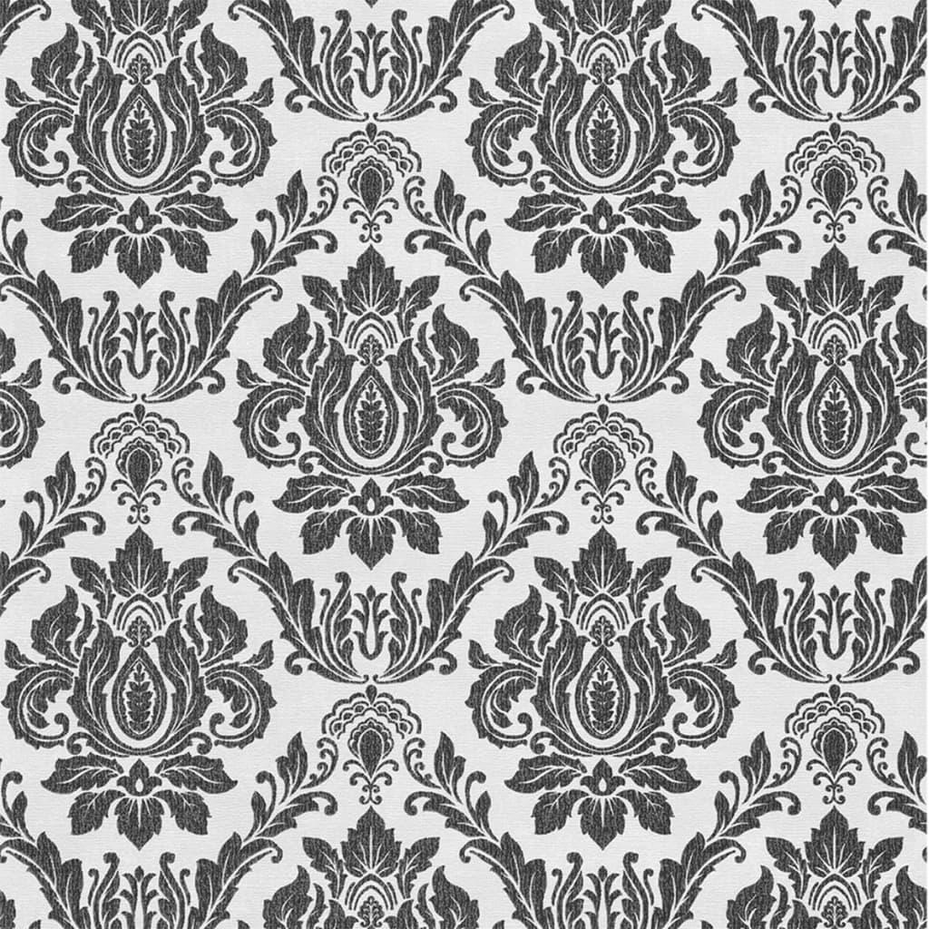 Afbeelding van DUTCH WALLCOVERINGS Behang barok wit en zwart 02508-20