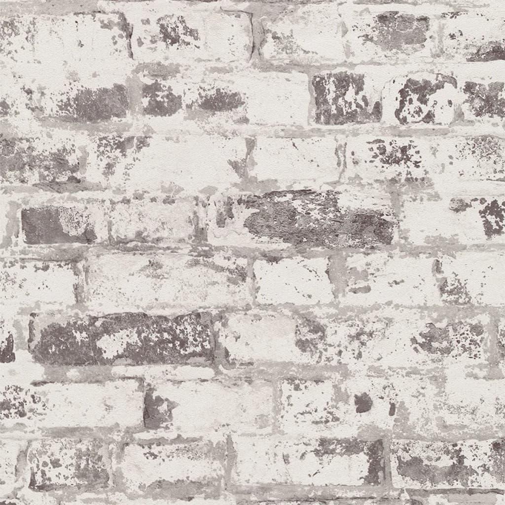Afbeelding van DUTCH WALLCOVERINGS Behang baksteen wit en grijs 42507-10