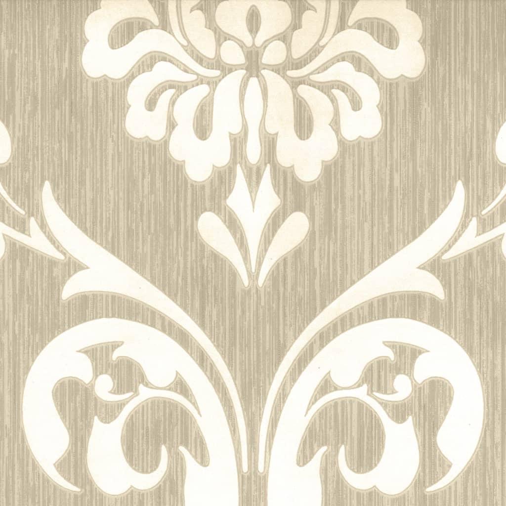 DUTCH WALLCOVERINGS tapet ornament brun og hvid 13110-30