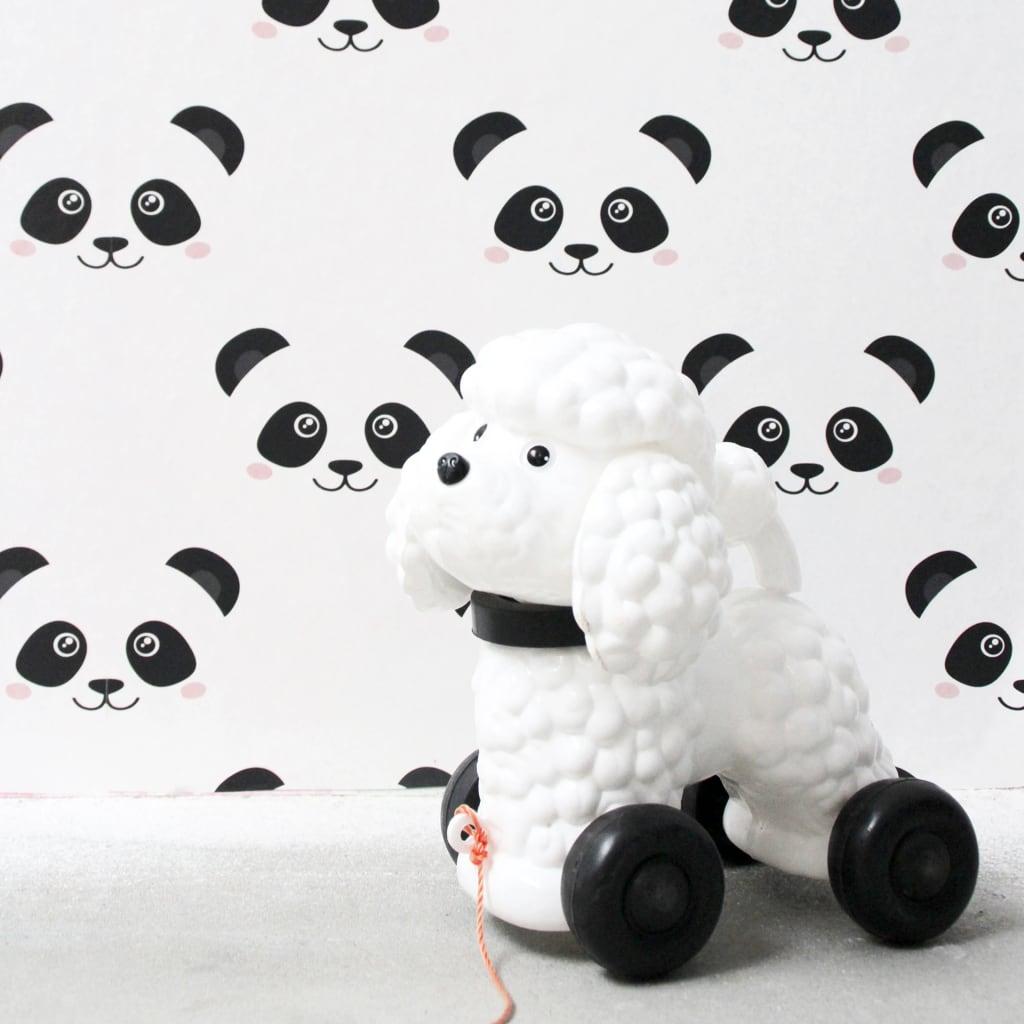 Fabulous World Tapet Panda, alb, 67100 vidaxl.ro