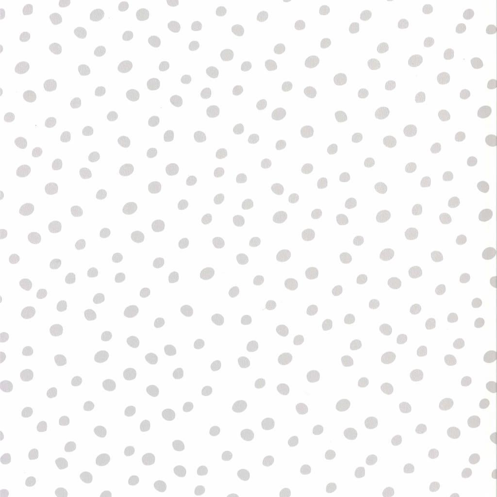 Fabulous World Tapet Dots, alb și gri, 67106-1 vidaxl.ro