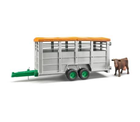 Bruder Remolque para animales con 1 vaca 1:16 02227[1/6]