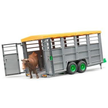 Bruder Remolque para animales con 1 vaca 1:16 02227[2/6]