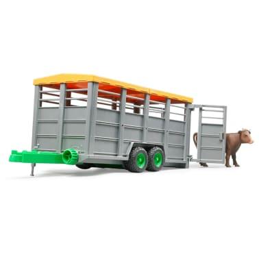 Bruder Remolque para animales con 1 vaca 1:16 02227[3/6]