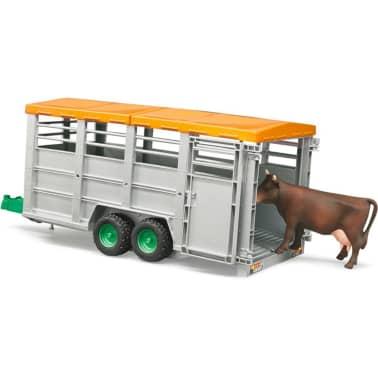Bruder Remolque para animales con 1 vaca 1:16 02227[6/6]
