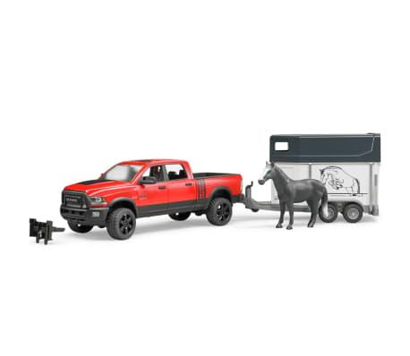 Bruder Camión Dodge con remolque de caballo RAM 2500 1:16 02501[1/4]