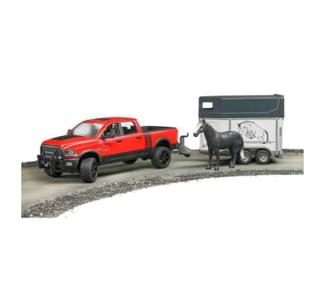 Bruder Camión Dodge con remolque de caballo RAM 2500 1:16 02501[3/4]