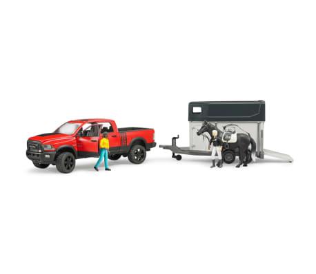 Bruder Camión Dodge con remolque de caballo RAM 2500 1:16 02501[4/4]