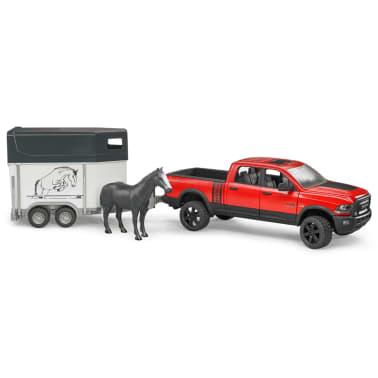 Bruder Camión Dodge con remolque de caballo RAM 2500 1:16 02501[2/4]