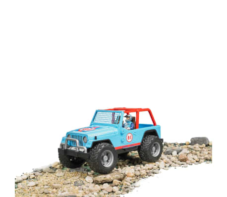 Bruder Todoterreno Land Rover+conductor Jeep Cross-country 1:16 02541[5/5]