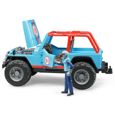 Bruder Todoterreno Land Rover+conductor Jeep Cross-country 1:16 02541[4/5]