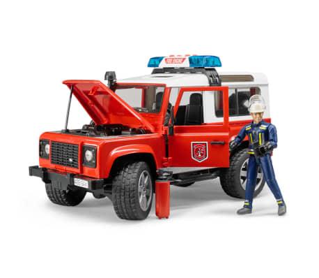Bruder Todoterreno de bomberos Land Rover Defender 1:16 02596[2/6]