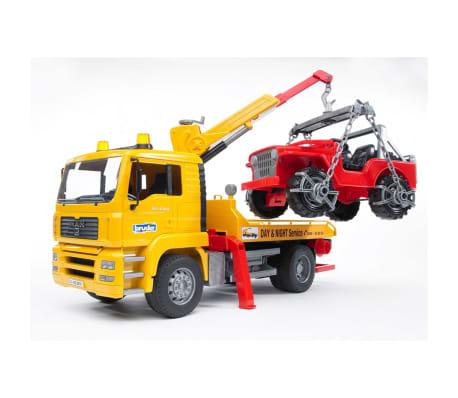 Bruder Camión de remolque con vehículo todoterreno MAN TGA 1:16 02750