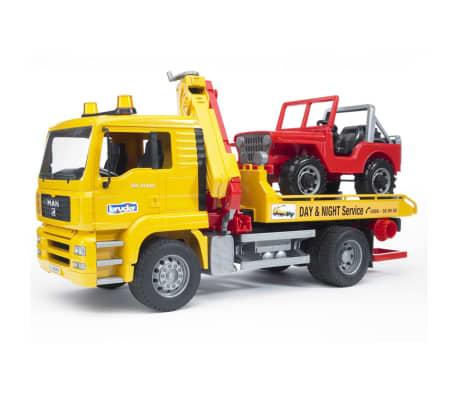 Bruder Camión de remolque con vehículo todoterreno MAN TGA 1:16 02750[3/9]