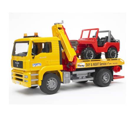Bruder Camión de remolque con vehículo todoterreno MAN TGA 1:16 02750[4/9]