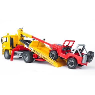 Bruder Camión de remolque con vehículo todoterreno MAN TGA 1:16 02750[5/9]