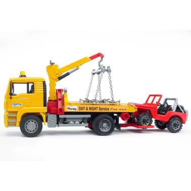Bruder Camión de remolque con vehículo todoterreno MAN TGA 1:16 02750[8/9]