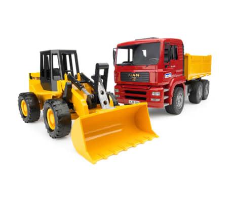 Bruder Camión volquete y cargador de ruedas MAN TGA 1:16 02752[1/4]