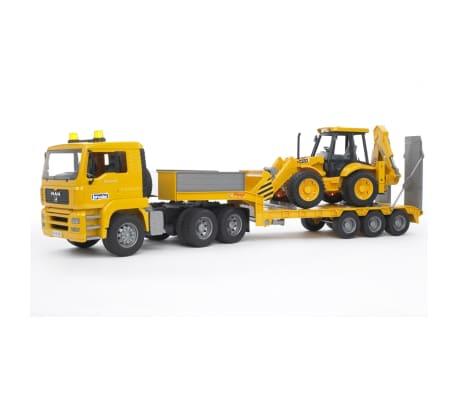 Bruder Camión con cargador bajo y excavadora MAN TGA 1:16 02776[2/6]
