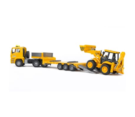 Bruder Camión con cargador bajo y excavadora MAN TGA 1:16 02776[4/6]