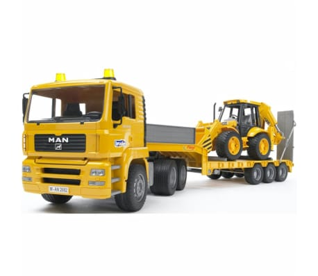 Bruder Camión con cargador bajo y excavadora MAN TGA 1:16 02776[6/6]