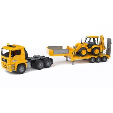 Bruder Camión con cargador bajo y excavadora MAN TGA 1:16 02776[5/6]