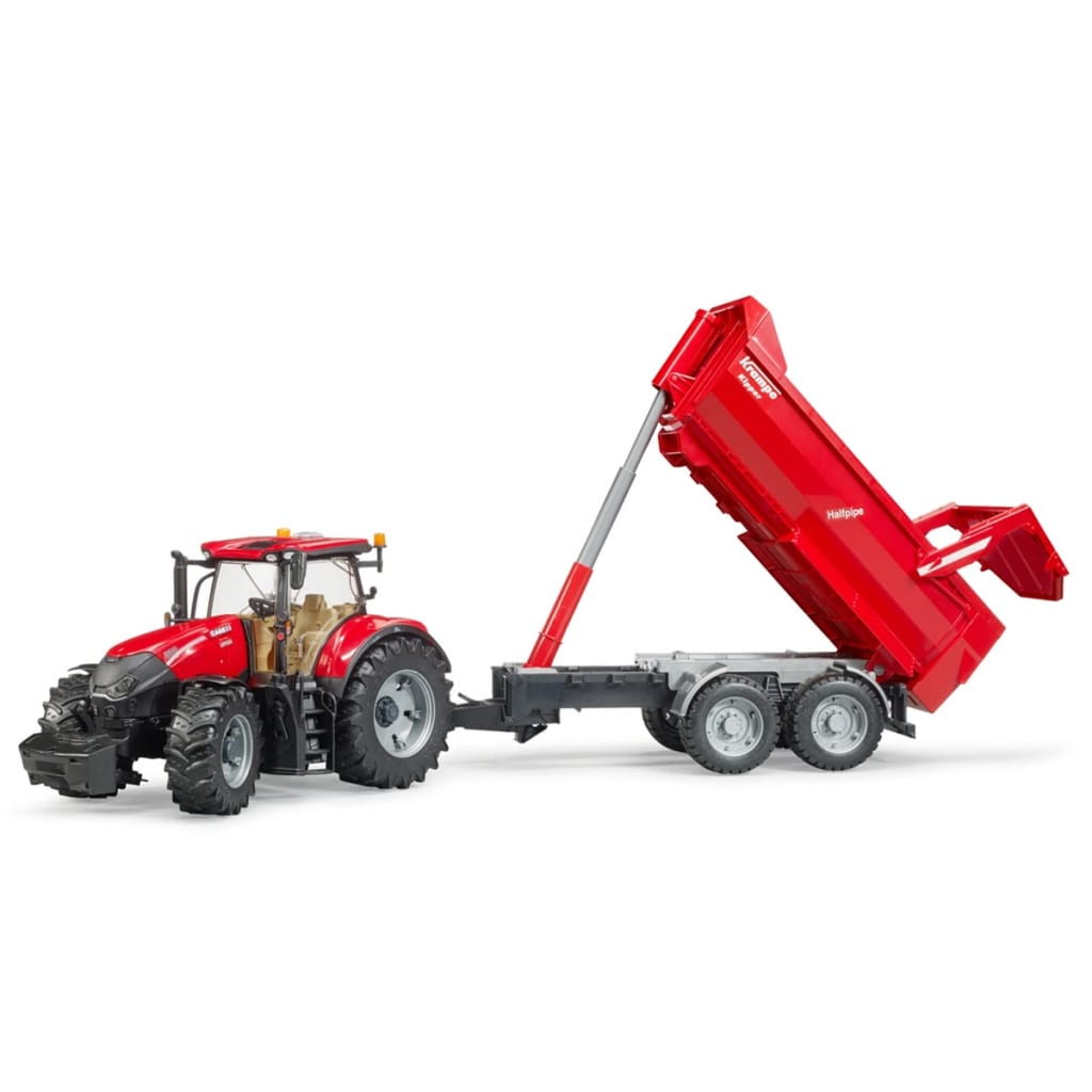 Bruder Bruder Bruder Traktor Case IH Optum 300 CVX mit Krampe Halfpipe Spielzeug 1 16 03199  80d45f