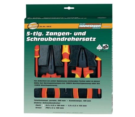 Brüder Mannesmann 5-teiliger VDE Zangen- und Schraubendrehersatz 10610[3/3]