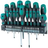 Brüder Mannesmann 37 Piece Screwdriver and Bit Set 11415