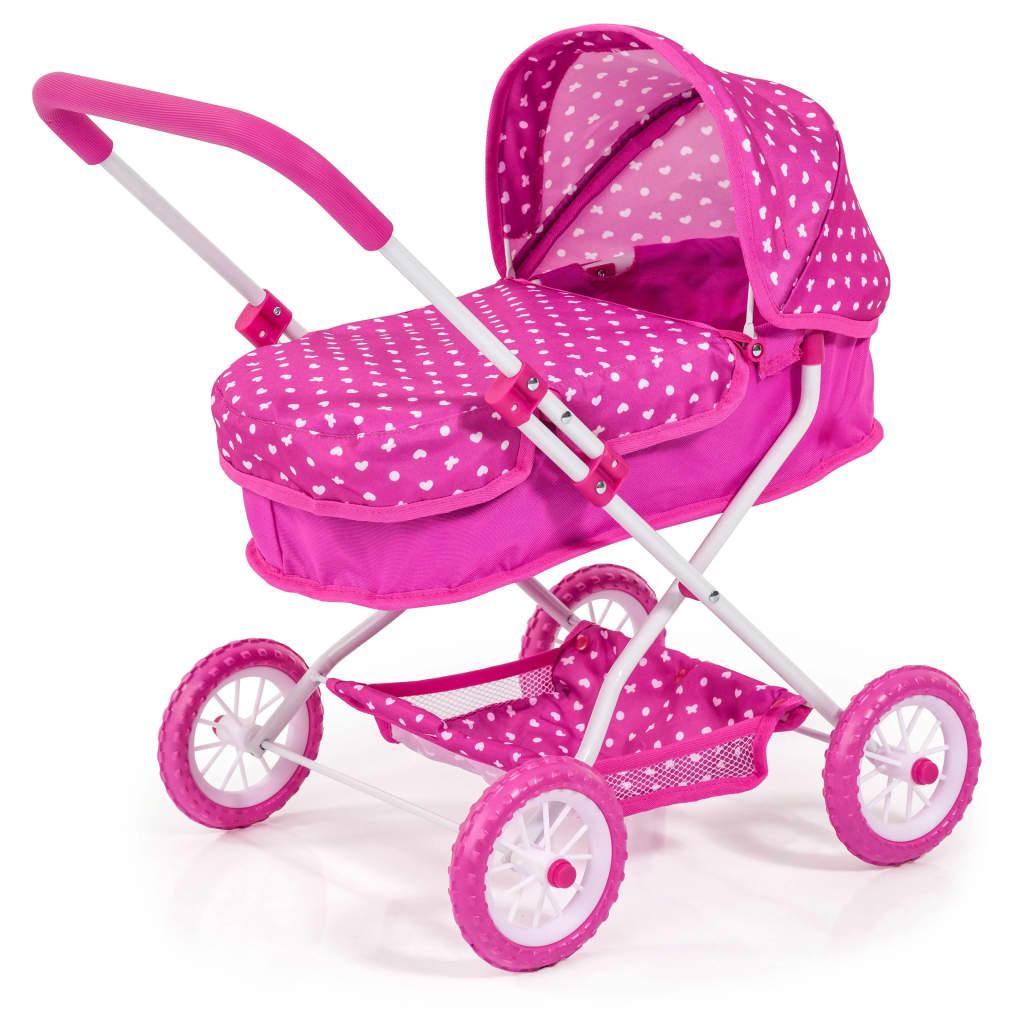 Afbeelding van Bayer poppenwagen Smarty roze 58 cm