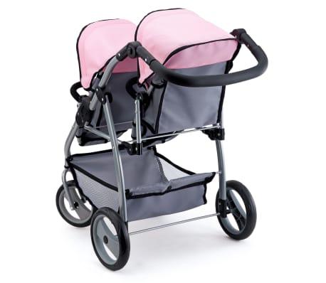 Bayer Lėlių vežimėlis dvyniams, pilkas ir rožinis, 26508AA[2/3]