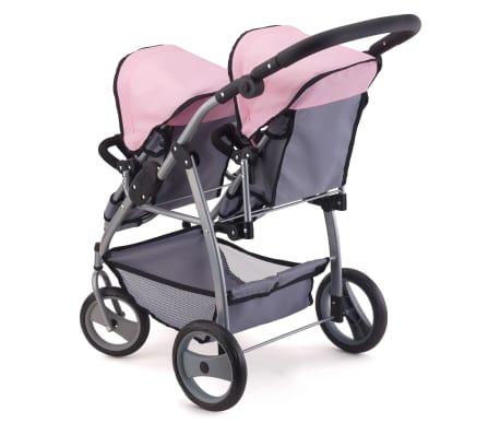 Bayer Lėlių vežimėlis dvyniams, pilkas ir rožinis, 26508AA[3/3]