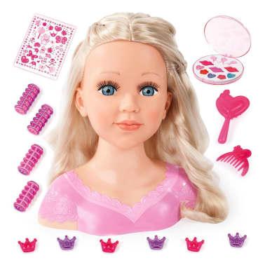 Bayer Głowa lalki do stylizacji Super Model Charlene, 27 cm, 90088AA[1/11]
