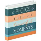 Walther Design Álbum de fotos Moments azul 100 páginas 30x30 cm