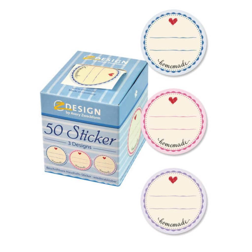 Avery AV-56819 Home Sticker Box Hausgemachte 3 Designs