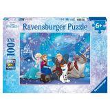 Ravensburger Puzzel XXL Frozen: 100 stukjes blauw
