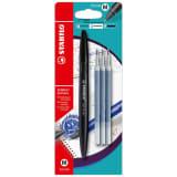 Stabilo Gel Exxx Pen M 0,5 mm + 3 recharges noir