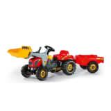 Rolly Toys 023 127 RollyKid X-tracteur avec chargeur et remorque rouge