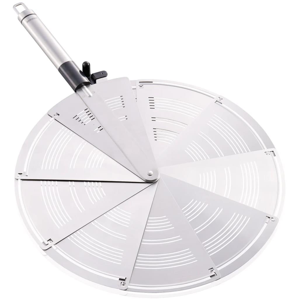 Afbeelding van Leifheit Spatbeschermer opvouwbaar grijs roestvrij staal 03090