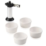 Leifheit Five Piece Creme Brulee Set Silver and White 03118