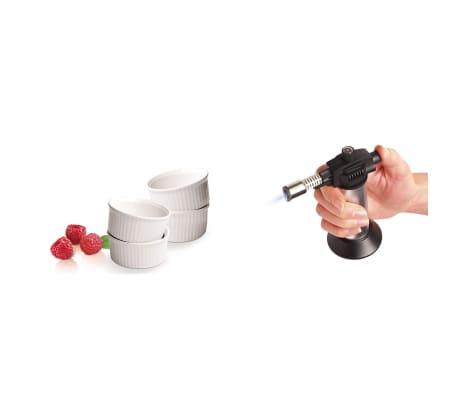 Leifheit Zestaw do crème brûlée, 5 części, srebrny i biały, 03118[6/7]