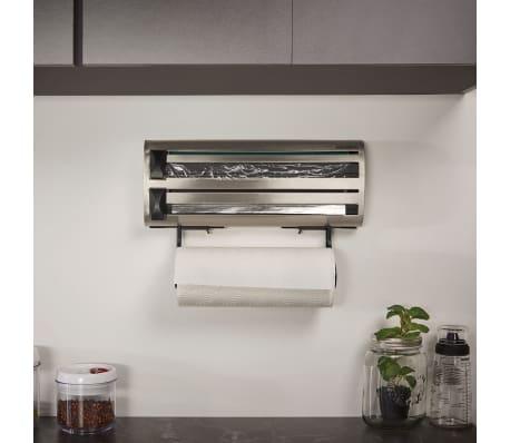 Leifheit portarrollos de cocina de pared parat royal gris 25660 - Portarrollos cocina pared ...