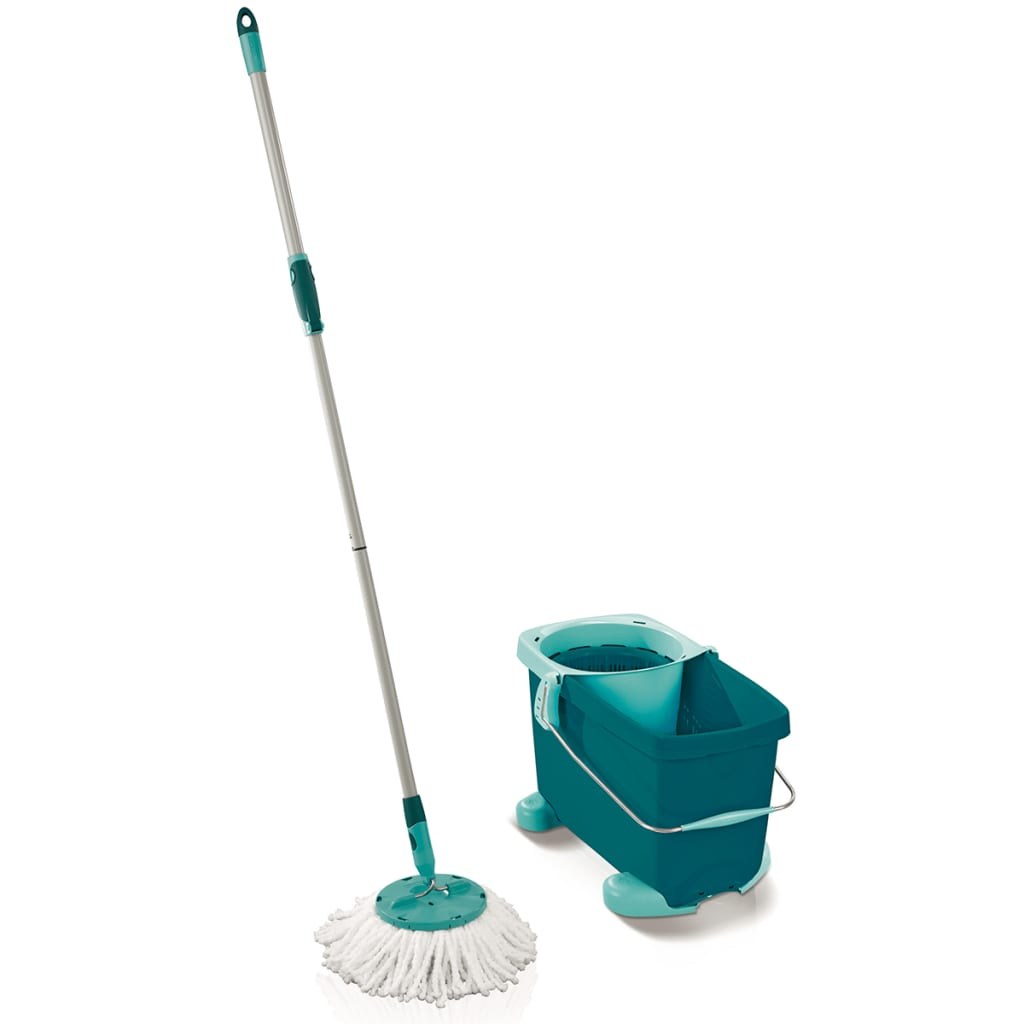 Leifheit Set mop rotativ Clean Twist, verde, 52052 poza 2021 Leifheit