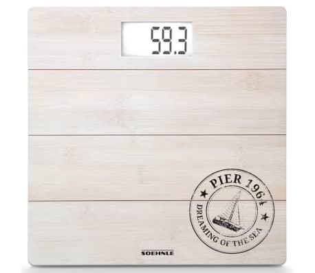 Soehnle Pèse-personne de salle de bain Bamboo 180 kg Blanc 63845[2/7]